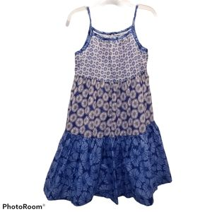 Old Navy Blue Tiered Dress 5T Girls